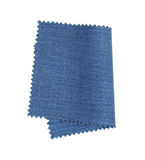 Blue fabric sample isolated on white  Stock Photography