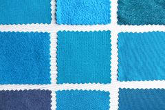 Blue fabric samples royalty free stock photo