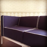 Blue fabric sofa in a room Royalty Free Stock Photography