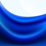 Blue fabric with soft folds Royalty Free Stock Images