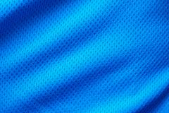 Blue fabric sport clothing football jersey Stock Images