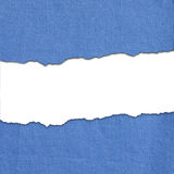 Blue fabric stripes with white text space Stock Images
