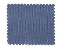 Blue fabric swatch samples isolated on white Stock Photography