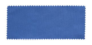 Blue fabric swatch samples isolated. On white background stock image