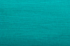 Blue fabric textile as texture background. Green blue fabric textile material, cotton as texture pattern background or backdrop Royalty Free Stock Photo
