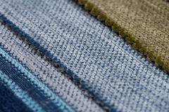Blue fabric texture Royalty Free Stock Photography