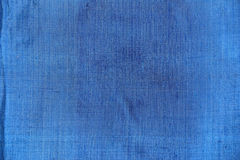 Blue fabric texture Stock Photography