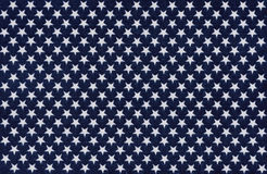 Blue fabric with white stars Stock Photo