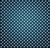 Blue fabric with white stars with vignette effect Stock Image