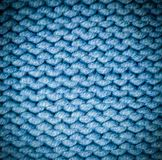 Fabric woolen yarn texture with vignette. background, craftsmanship. Blue fabric woolen yarn texture with vignette. background, craftsmanship stock photos