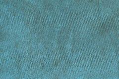 Blue fabric woven texture macro Royalty Free Stock Photos