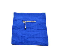 Blue fabric with zip Royalty Free Stock Image