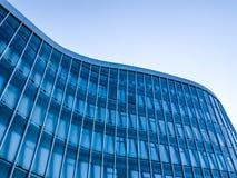 Blue facade. Blue striped facade of corporate building Stock Photos