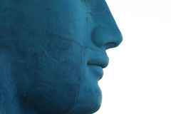 Blue face Royalty Free Stock Photos