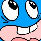 Blue face Stock Photo