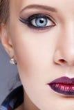 blue face make pink soft tint up woman Στοκ φωτογραφίες με δικαίωμα ελεύθερης χρήσης