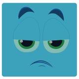 Blue face Royalty Free Stock Photos