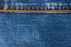 Blue faded jeans texture Royalty Free Stock Photography