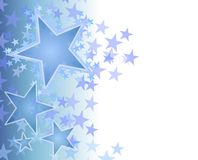 Blue Fading Stars Background Stock Images