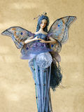 Blue fairy. Fairy with blue hair and wings stock images