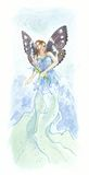 Blue fairy Stock Photo