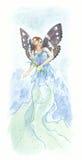 Blue fairy royalty free illustration