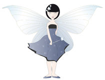 Blue Fairy. With magic wand and enormous wings Royalty Free Stock Photos
