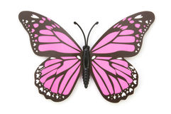 Blue fake butterfly isolated Stock Photography
