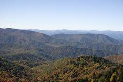 blue fall mountains ridge Стоковое Фото