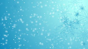 Blue falling snowflakes Christmas winter video animation