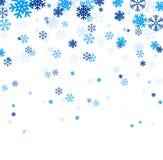 Blue falling snowflakes. Royalty Free Stock Photos