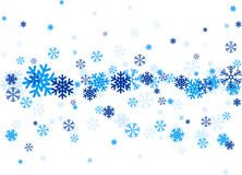 Blue falling snowflakes. Blue snowflakes Winter illustration Vector christmas background Stock Photo