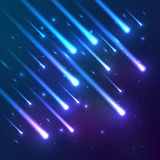 Blue falling stars vector background Royalty Free Stock Image