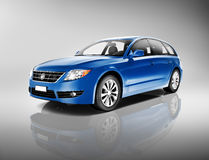 Blue Family Car Stock Photography