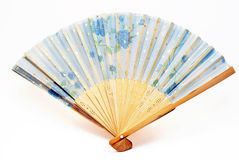 Blue fan Stock Photography
