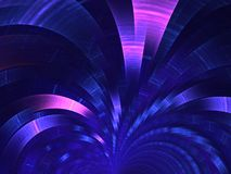 Blue fan. Abstract background. Dark-blue fan. Abstract fractal background Stock Photography