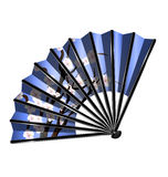 Blue fan and blossom Stock Photography