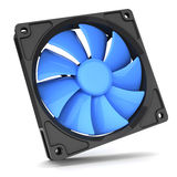 Blue Fan cooler for PC Royalty Free Stock Image