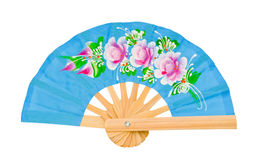 Blue fan isolated on white background royalty free stock photography