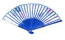 Blue fan Royalty Free Stock Image