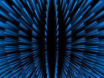 Blue fantasy blue particles in global arrangement. In black background Stock Image