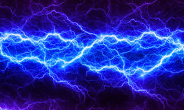 Blue fantasy fractal lightning Stock Images