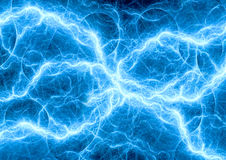 Blue fantasy fractal lightning Royalty Free Stock Photo