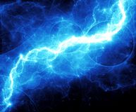 Blue fantasy lightning Royalty Free Stock Photo