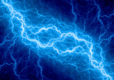 Blue fantasy lightning Stock Image