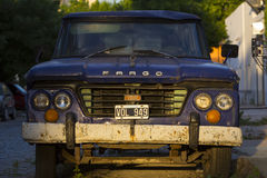 Blue Fargo car in Buebnos Aires Royalty Free Stock Photo