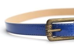 Blue fashion belt Royalty Free Stock Photo