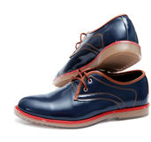 Blue Fashion Male Shoes Royalty Free Stock Photography