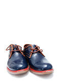 Blue Fashion Male Shoes Royalty Free Stock Photos