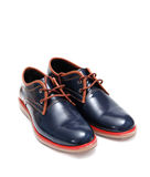 Blue Fashion Male Shoes Stock Image
